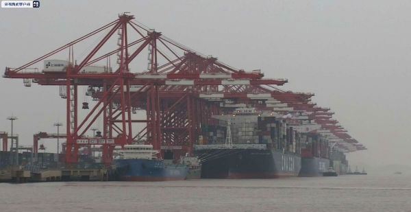 International haul lines container ship flow in Yangshan deep-water port resumed to normal level